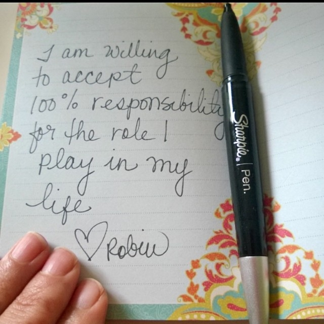 accept responsibility for my finances and life #100%responsibilitypledge