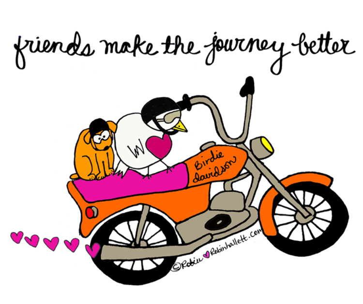 friends make the journey better