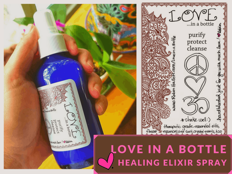 love in a bottle healing spray